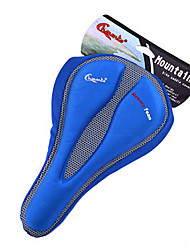 CHAUNTS 3D Double Thickening Memory Sponge Blue Bicycle Saddle Seat Cover