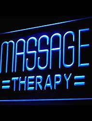publicidade massagem terapêutica levou sinal de luz