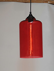 Bottle Design Pendant, 1 Light with Transparent Shade