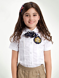 Uniforme Escolar torneadas-down único breasted-Buttons Plain Camisas e Blusas