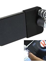 Microscope Mini 60X avec le 2-éclairage LED et devise détection de lumière UV pour iPhone 4/4S (3XLR1130)