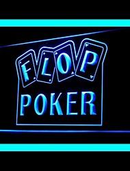 флоп покер рекламы Светодиодный свет знак