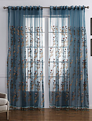 One Panel ture Floral  Botanical Polyester Curtain Drape