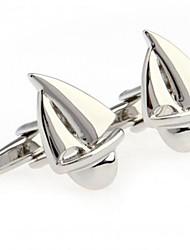 abotoaduras da forma dos homens de vela prata cobre (prata) (1 par)