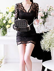 Elegant V-Neck Lace Dress