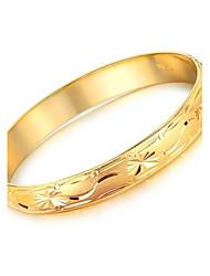 Motif Mme givré Cuivre Plaquage 18 K Gold Bracelet