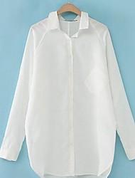 chemise en lin à manches longues lâche des femmes