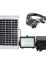 30-LED 5W Painel Solar Branco Solar lâmpada de inundação Sistema de iluminação carregador do telefone móvel