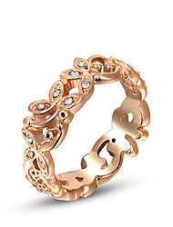 ROXI Western Style Fashion-Österreich-Kristall Bud Rose Gold Ring