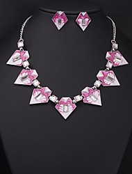 Women's Fashion Geometric Gemstone (Necklaces&Earrings) Jewelry Sets