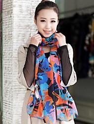 Ms. Korea 2014 New Winter Long Chiffon Silk Scarf Velvet Scarves