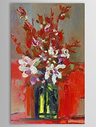 Hand Painted Oil Painting Still Life  Vase Flower with Stretched