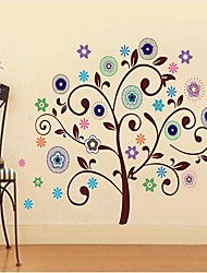 Createforlife® Good Flower Trees Kids Nursery Room Wall Sticker Wall Art Decals