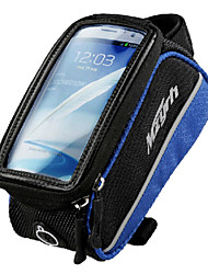 saco quadro de telefone mzyrh 5,5 polegadas preto e azul com pvc transparente tela tocável