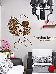 Createforlife Líder Moda ® Lady crianças da sala das meninas adesivos de parede arte da parede Decalques