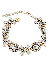 Women's Exquisite Beaded Flower Assemble Chain Link Bracelets (1pc)