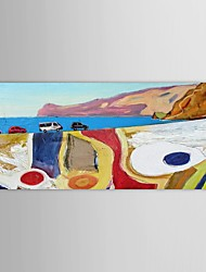 IARTS®Hand Painted Oil Painting Abstract  Beaches with Stretched Frame