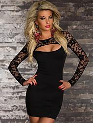 Sweet Women's Low-Cut Lace Bodycon Dress