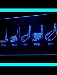 Golf Birdie Stiff Advertising LED Light Sign