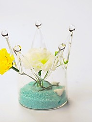 centros de mesa florero de cristal corona deocrations de mesa (flores no incluido, la arena no incluido)