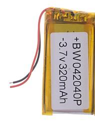 3.7V 320mAh Lithium Polymer Batterie pour les téléphones portables MP3 MP4 (4 * 20 * 40)