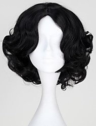 Princess Snow White Synthetic Short Black Curly Cosplay Wig
