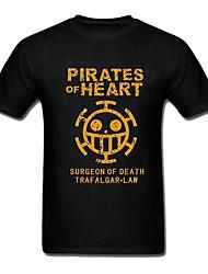 один кусок футболку смерть хирург Трафальгарской закон черный хлопок короткий рукав косплей