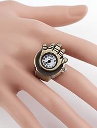 Palm-forme d'anneau Quartz analogique métal vintage (1pc)