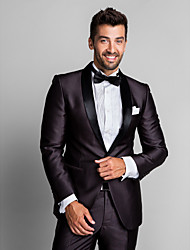 Coffee Polyester Slim Fit Two-Piece Tuxedo