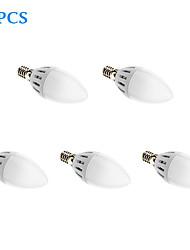 Ampoules Bougies LED Blanc Chaud 5 pièces E14 5W 15 SMD 2835 450 LM AC 85-265 V