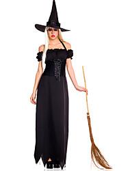 Costume Halloween di Charme Strega donne nere poliestere