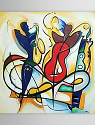IARTS®Hand Painted Oil Painting Abstract People Playing Musical Instrument   with Stretched Frame