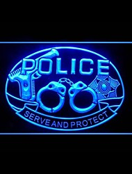 Serve Protect Advertising LED Light Sign