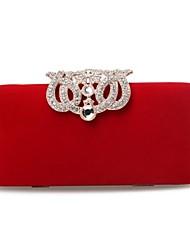Le velours des femmes avec des sacs à main de cristaux autrichiens de soirée / embrayages (plus de couleurs)