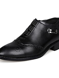 Men's Spring / Summer / Fall / Winter Pointed Toe Leather / Patent Leather Office & Career / Casual / Party & Evening Chunky Heel Slip-on