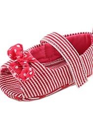 Flat Heel Peep Toe fille de coton et Mary Jane Appartements avec bowknot et Gore Chaussures (plus de couleurs)