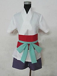 Inspired by Hunter X Hunter Machi Anime Cosplay Costumes Cosplay Suits Patchwork White Short Sleeve Top / Shorts / Gloves / Belt