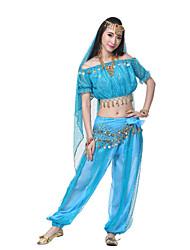 Performance Women's Silk Morden Dance Outfits-Including Headpiece,Veil,Belt,Top,Bottom(More Colors)