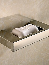 Soap Dish Stainless Steel Wall Mounted 19*9*3cm(7.5*3.6*1.2inch) Brass Contemporary