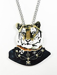 padrão de tigre colar de madeira
