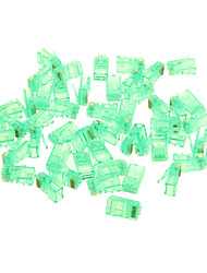 PC RJ45 Network Connectors - Green (50 PCS)
