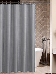 Minimalista Shower Curtain Gris Square Superposición