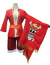 "New! One Piece Opening Theme - Wake up! ""Straw Hat"" Monkey D. Luffy Cosplay Costume"