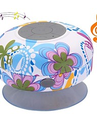 Flor BST-06 portátil à prova d'água do chuveiro Stereo Bluetooth Wireless Mini Speaker com microfone