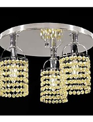 Max 40W Flush Mount ,  Modern/Contemporary Electroplated Feature for Crystal Metal Living Room / Bedroom / Dining Room