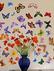 Createforlife ® Mariposas Dibujos animados para niños Parvulario arte de la pared etiqueta de la pared Tatuajes