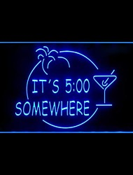 ITS 5:00 Margarita Advertising LED Light Sign