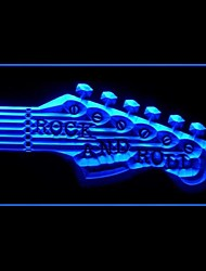 Rock, Roll, E-Gitarre Werbung LED-Licht-Zeichen