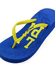 Quiksilver Women's Beach Sports Wedge Heel Blue Flip Flops N27