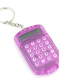 Mini Portable Flip-open  Calculator with Keychain